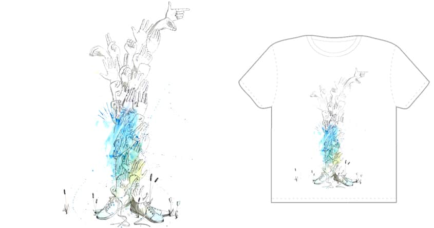 Tree of hands by kcsone on Threadless
