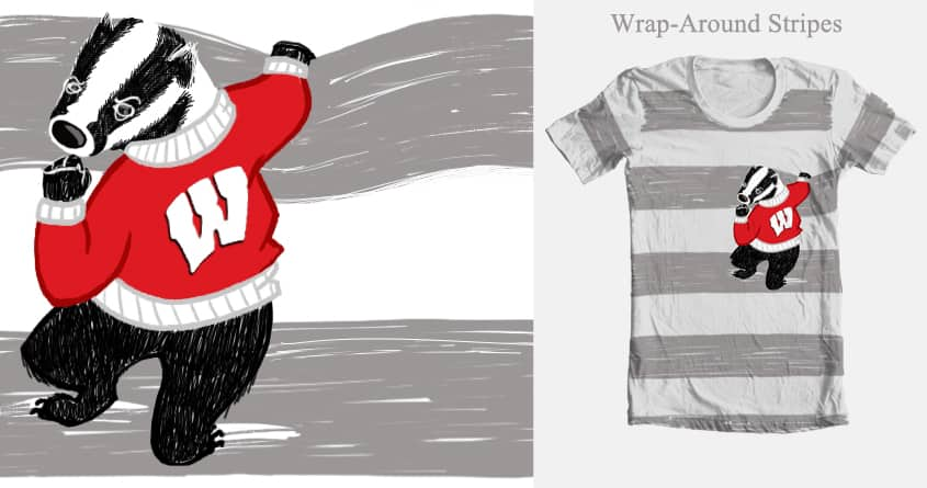 Wisconsin Bucky Shakes His Fist by skshining on Threadless