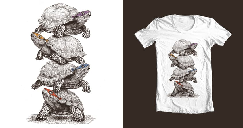 Ninja Turtles by stan devenson on Threadless