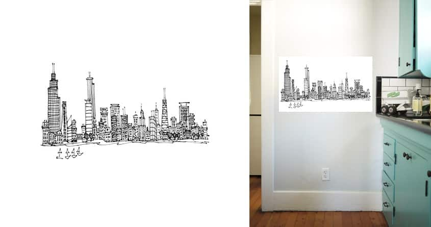 chicago cityscape by mwoodpen on Threadless