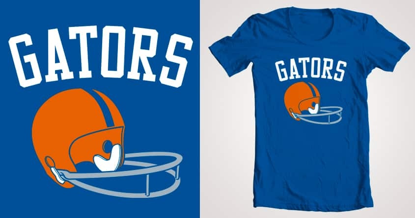 Gators Helmet by LL Cool G on Threadless