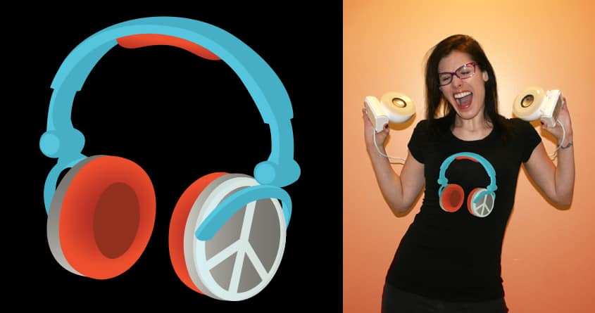 Peace, Love & Music by SkydivingNadz on Threadless