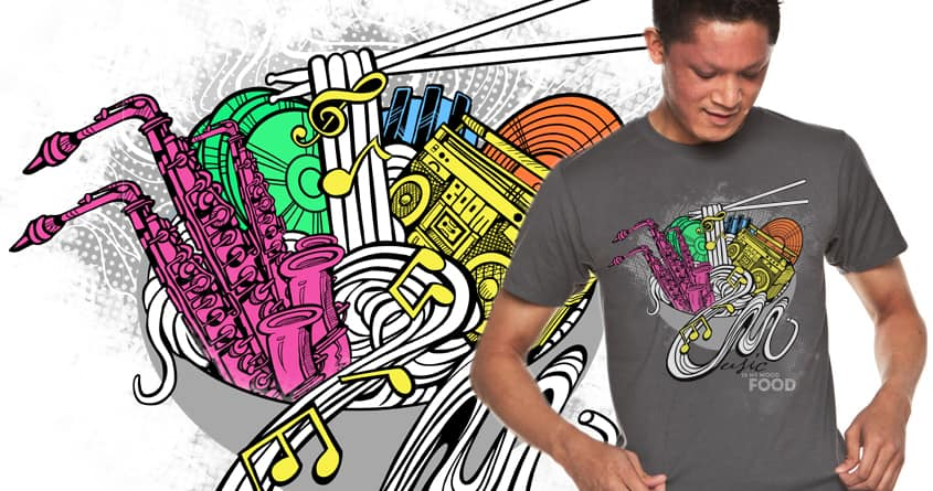 Music Noodles by rvoxie on Threadless
