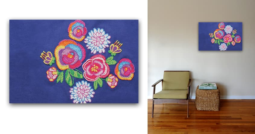Bloom Bouquet - wall art by Nellie.Ryan on Threadless