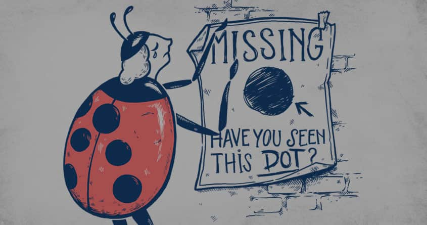 Missing dot by AnnieCarter on Threadless