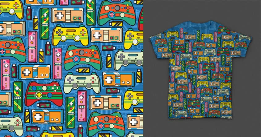 Game Controllers Pattern by nuqz on Threadless