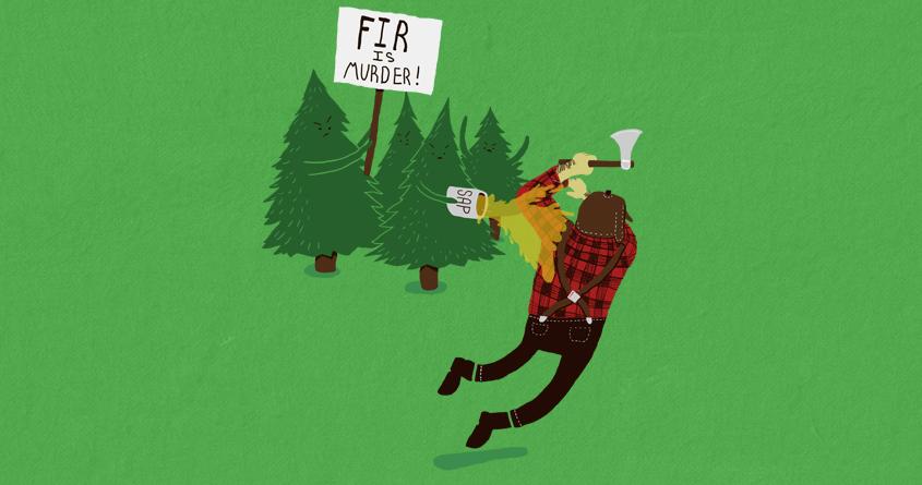 Fir is Murder by moosabman on Threadless