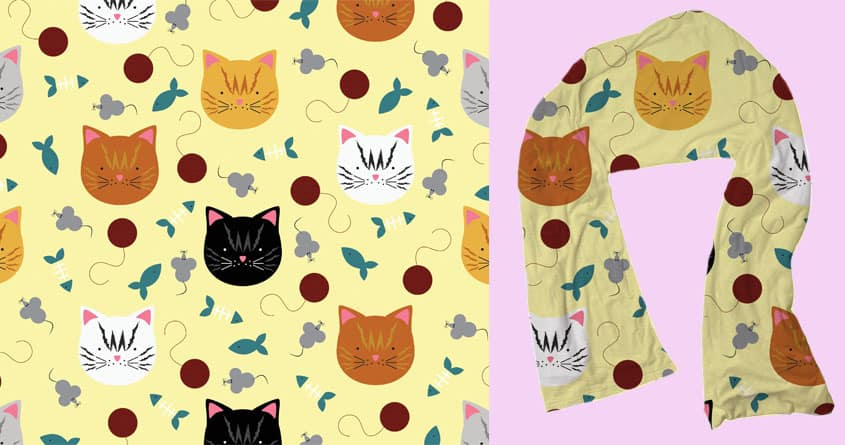 CATS! CATS! CATS! by parisa_marie on Threadless