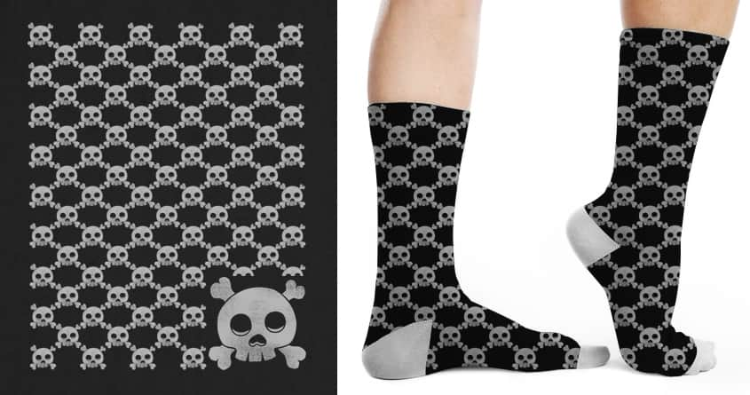 Skull Pattern by messing on Threadless
