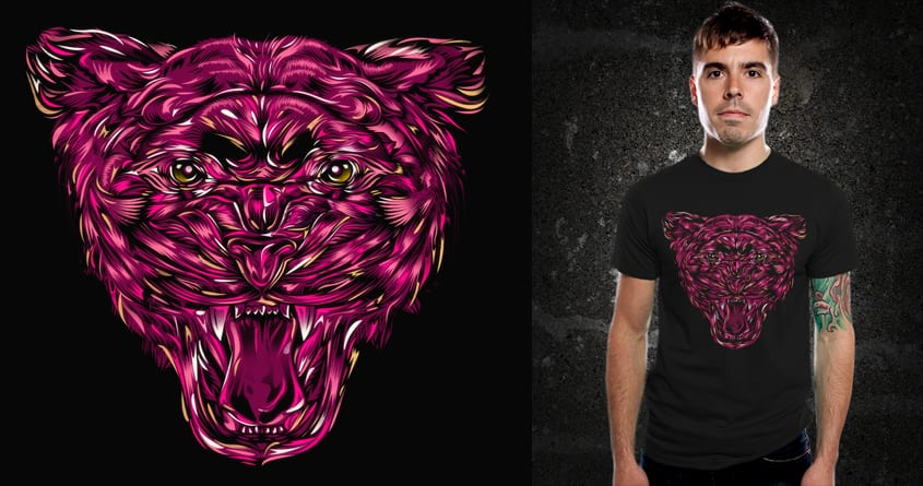Pink Panther by kooky love and dandingeroz on Threadless