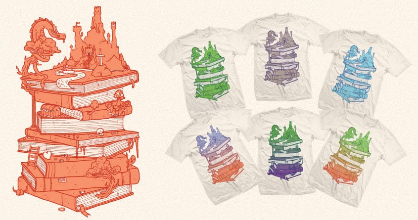 The magic of books by Demented on Threadless