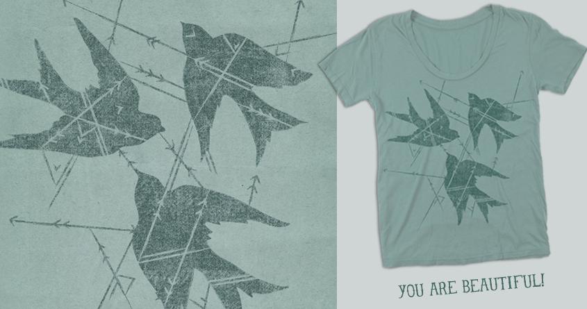 Sparrows & Arrows by danielleroxanne on Threadless