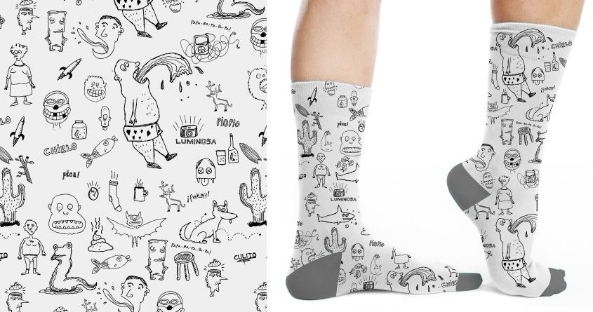 Doodle socks by mafiori on Threadless