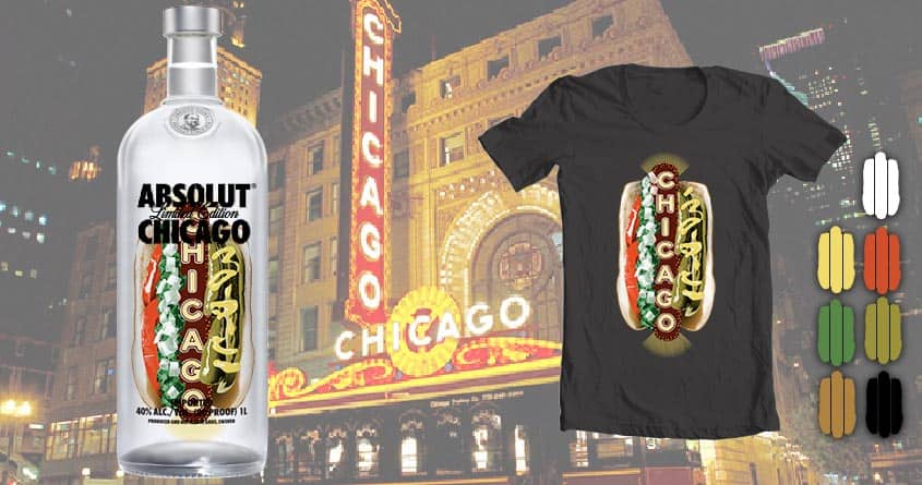 Chicago Hot Dog/ Marquee Mash-up by Kellabell9 on Threadless