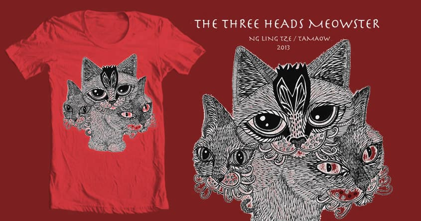 The Three Heads Meowster by tamaow on Threadless