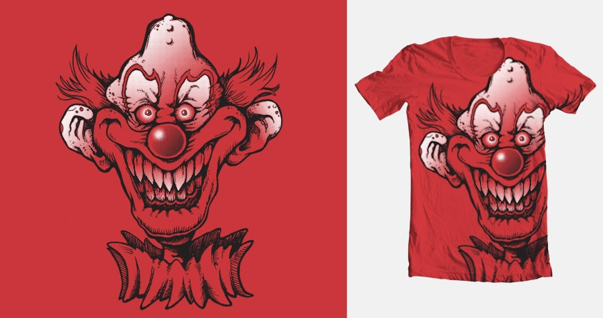 Evil Clown by Tone Echo on Threadless