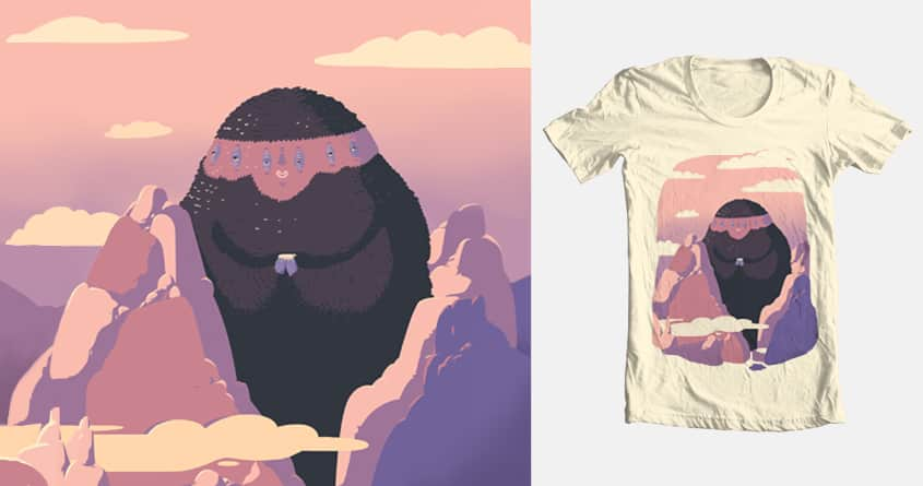 Cosy mountain monster by yannachinzz on Threadless