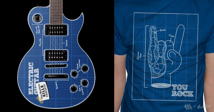 Blueprints of Rock by yurilobo on Threadless