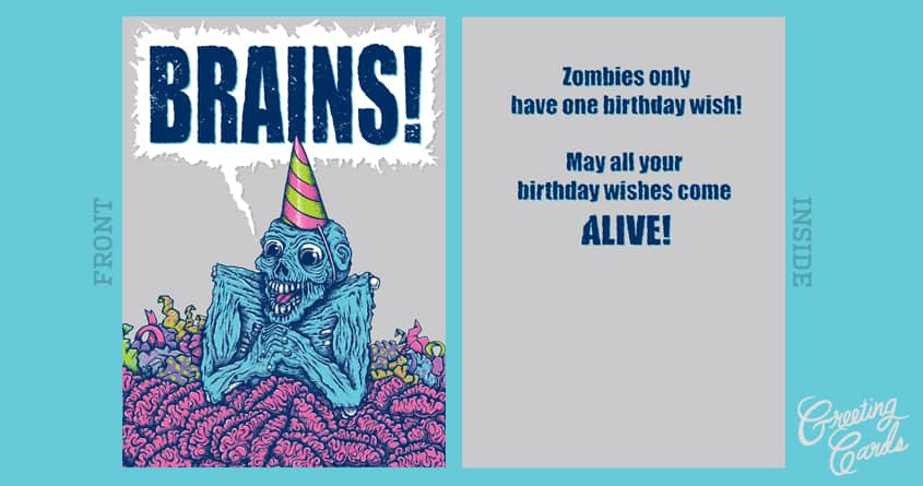 Zombie Birthday by Edword on Threadless