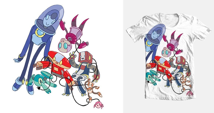 Lots O' Bots by Achluo on Threadless