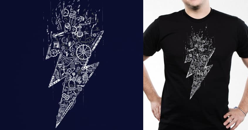 The sound of heavy metal thunder by temyongsky on Threadless