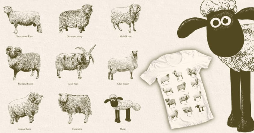 Sheep! by ijmccallum on Threadless