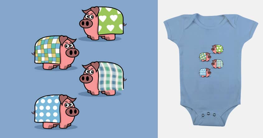 Pigs in blankets by mip1980 on Threadless