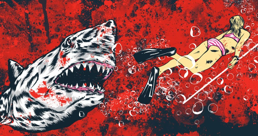 Score shark attack by mainial on threadless for Design attack