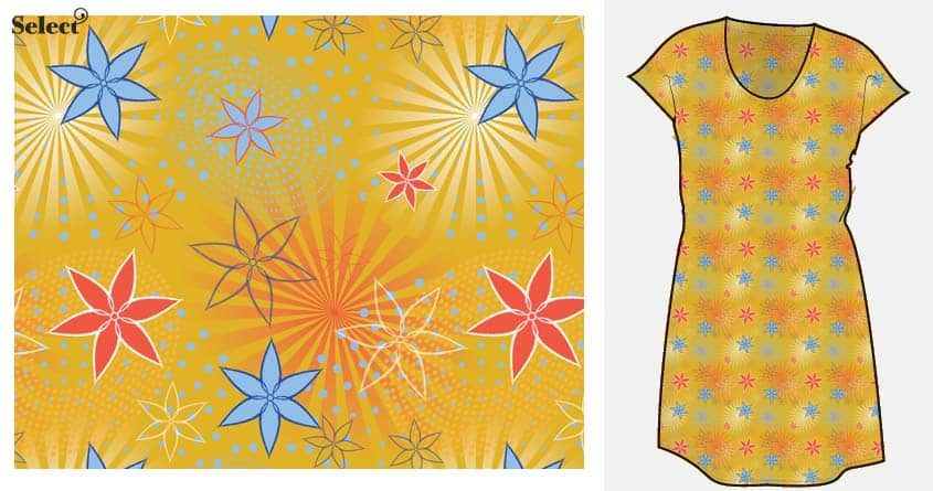 Select Floral Rotary Dress by Keroth on Threadless