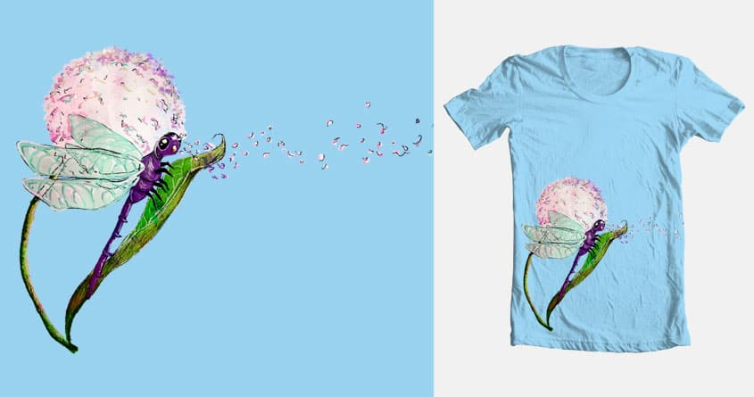 Pollen breathing dragon fly by christisocool on Threadless