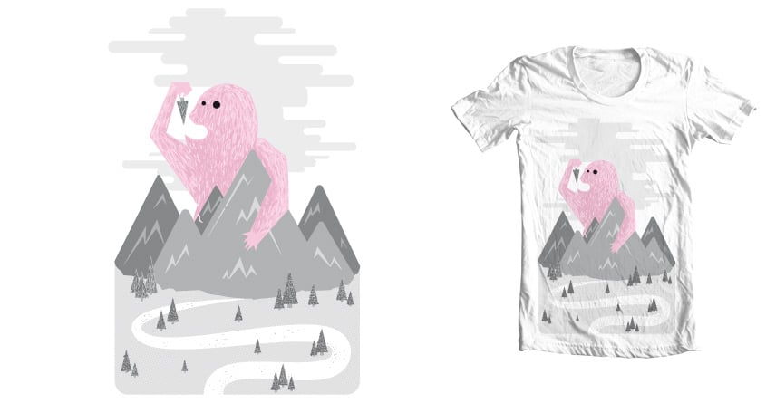Moutain Monster by theodesimpel on Threadless