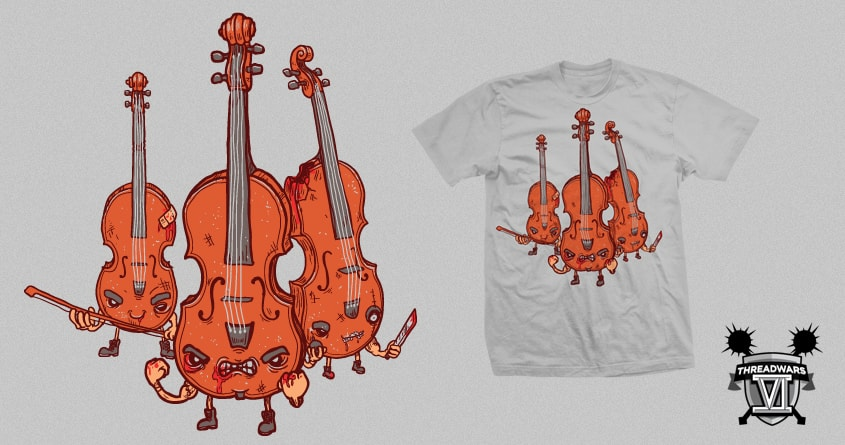 Violins by Demented on Threadless