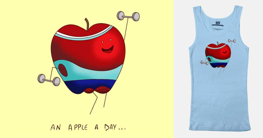 An Apple A Day by parisa_marie on Threadless