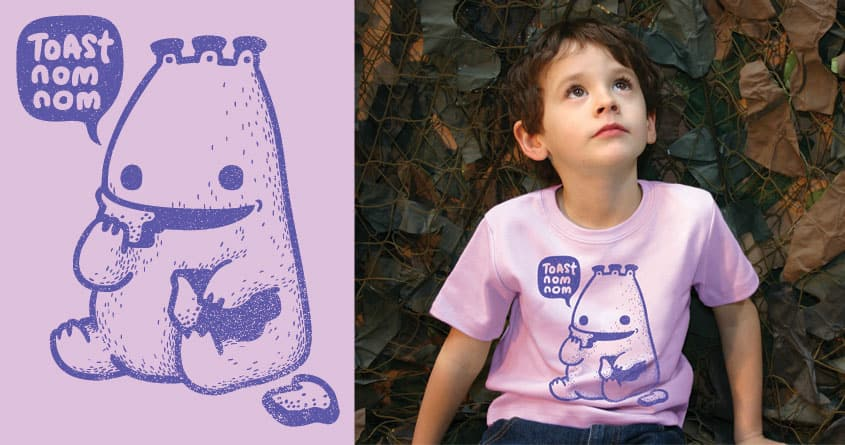 Toast Monster by BubuSam on Threadless