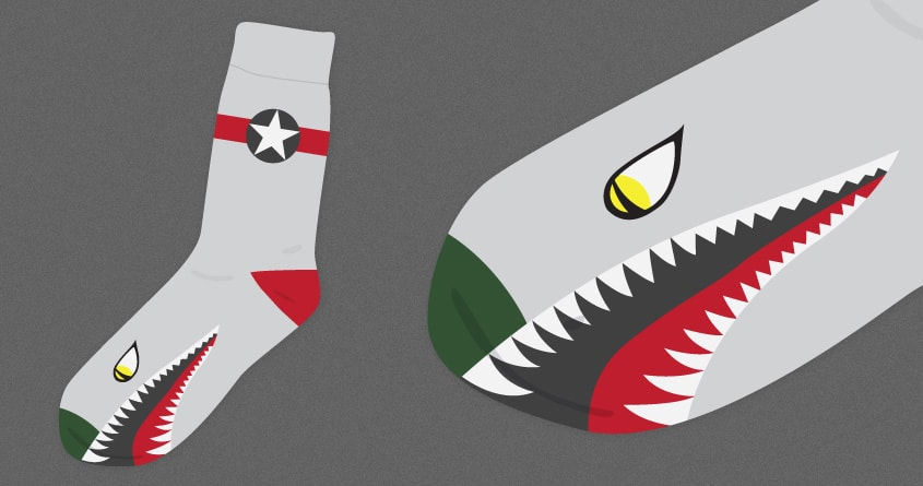 Fighter Socks by speedyjvw on Threadless