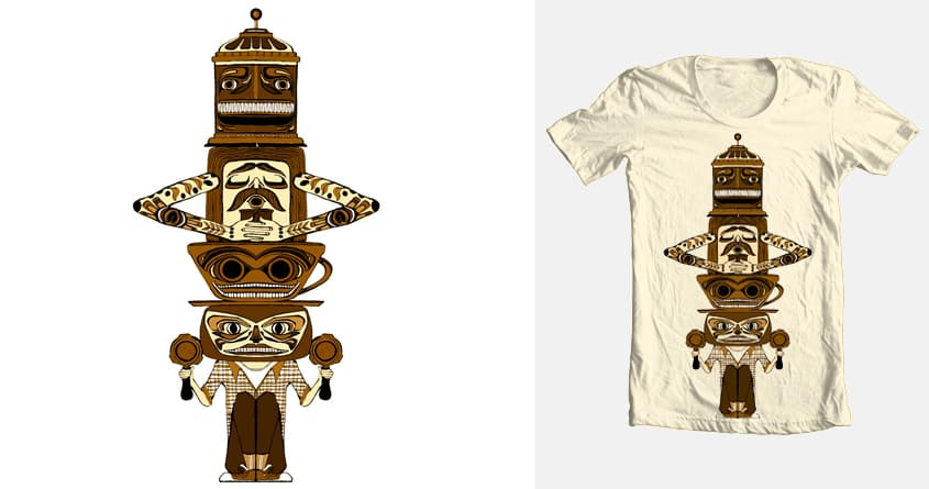 Coffee Totem by ursulabarton on Threadless