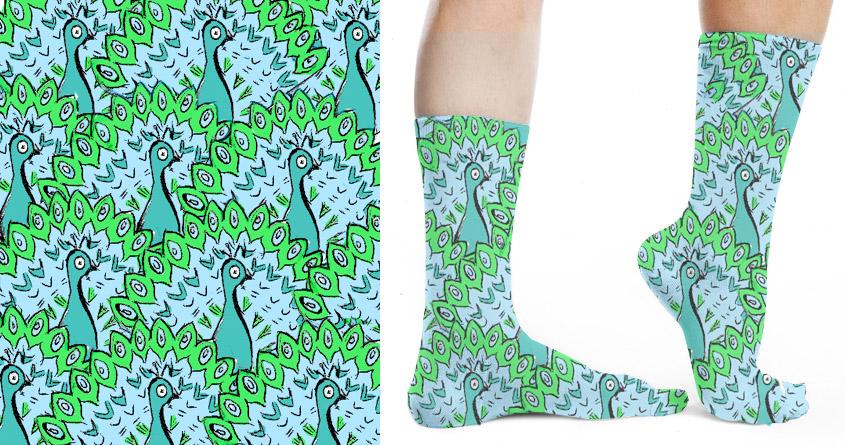 Peacock Socks by FlaviaMarques on Threadless