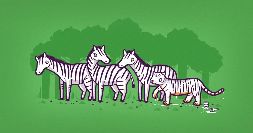 Zebra hunt by randyotter3000 on Threadless