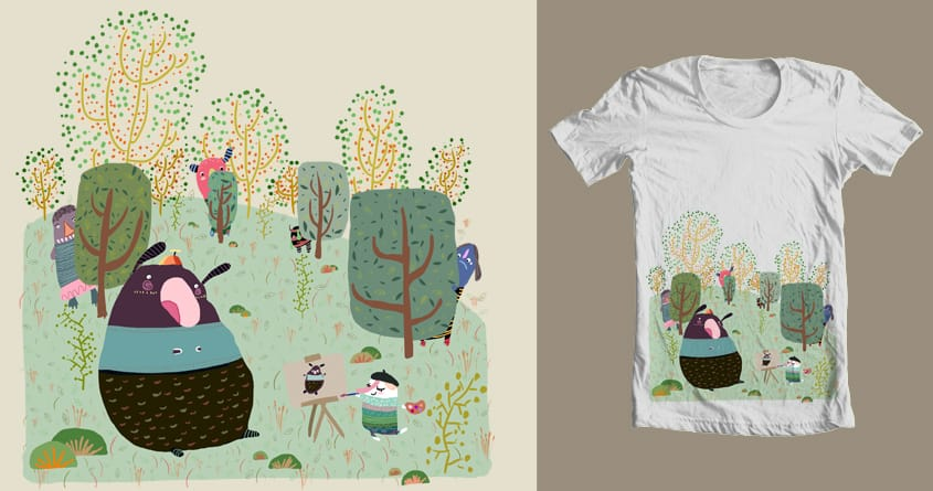 THE ARTIST AND THE MONSTER by davidpavon on Threadless