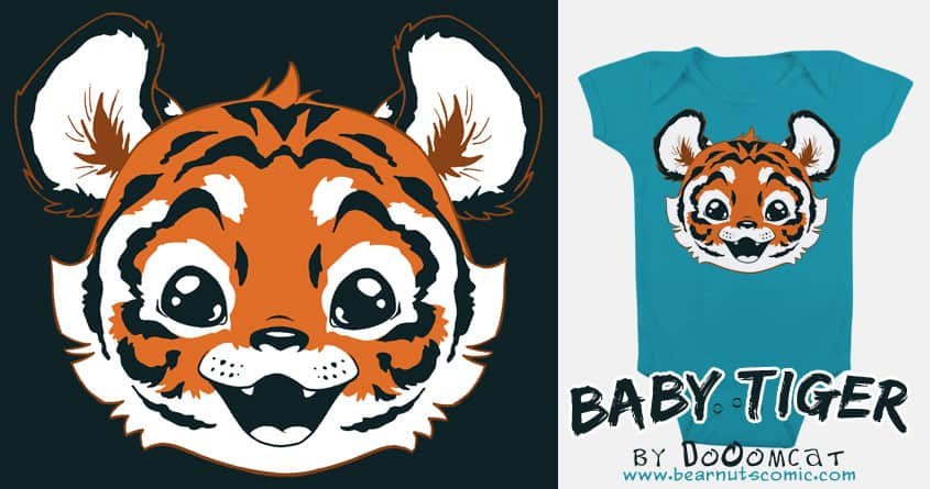 Baby Tiger by Dooomcat on Threadless