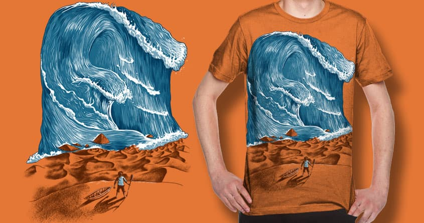 Desert Tsunami by FRICKINAWESOME and bokien on Threadless