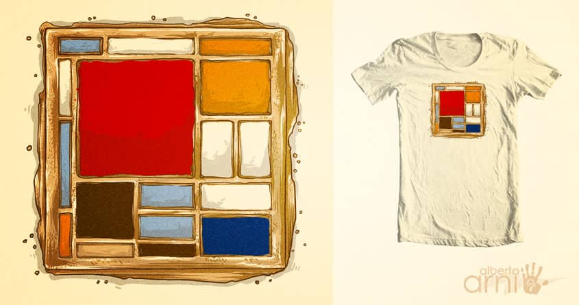 Waffle with Large Red Plane, Cream, Brown, Gray and Blue by albertoarni on Threadless
