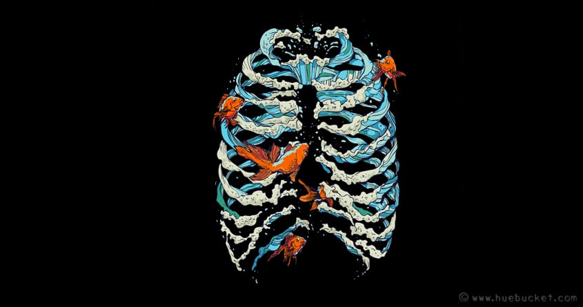 Fish Bone by huebucket on Threadless