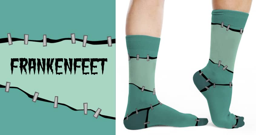 Frankenfeet by MerryMimic on Threadless
