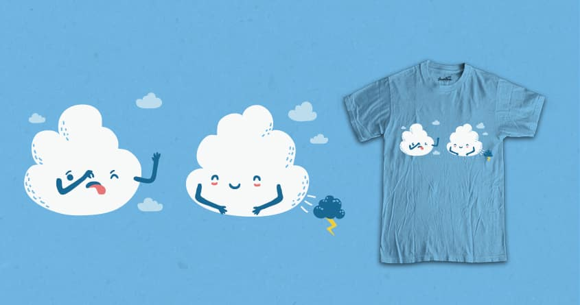 Suddenly Cloudy Sky by soloyo and wawawiwa on Threadless