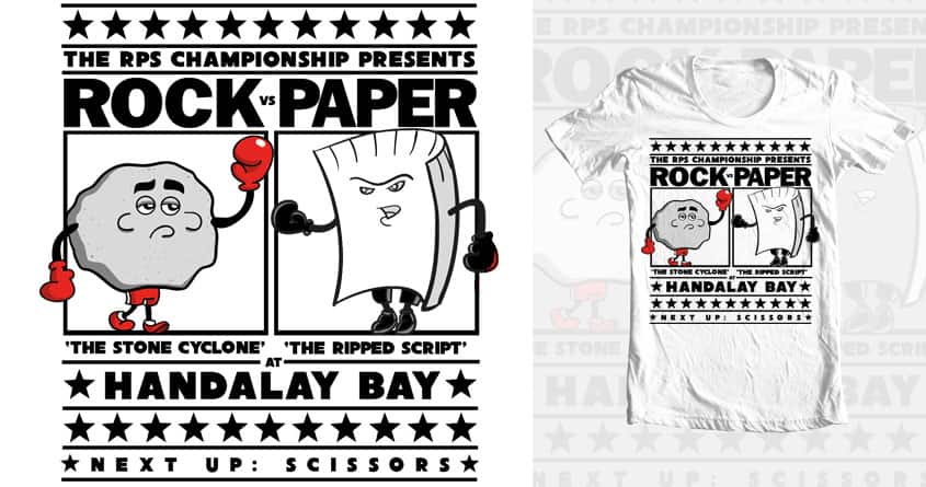 Rock v Paper by tomtface on Threadless
