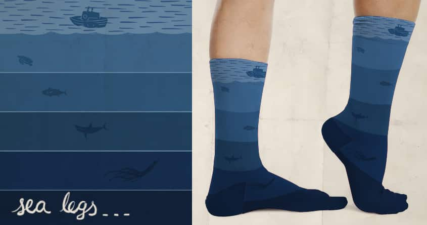 Sea Legs by darel on Threadless