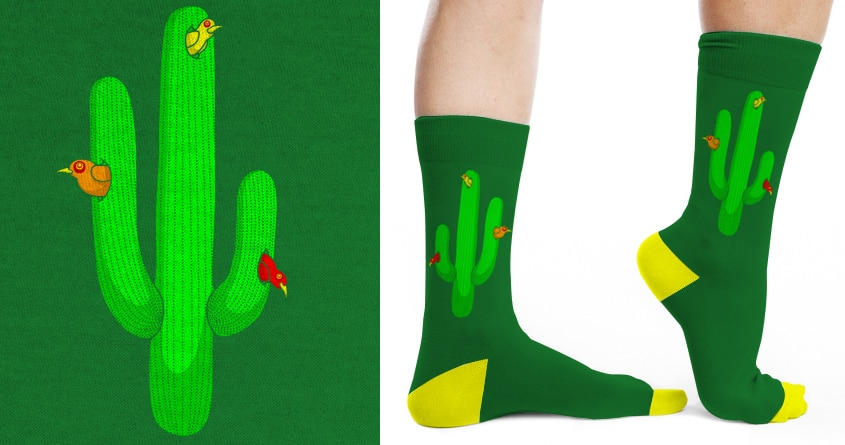 Birds In A Cactus by SteveOramA on Threadless