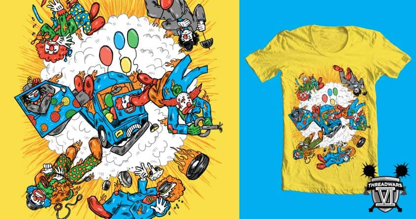 When Clown Cars Explode by nickv47 on Threadless