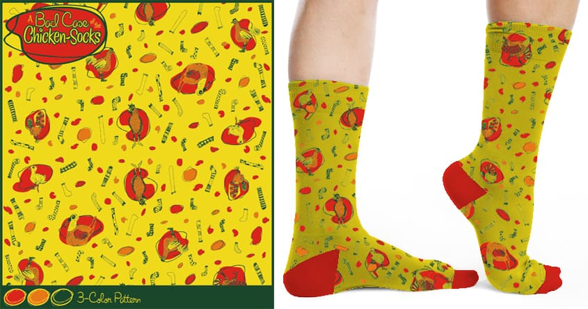 A Bad Case of the ChickenSocks by lporter1980 on Threadless